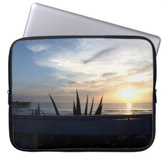 Agave Cactus Ocean Sunrise Computer Sleeve