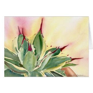 Agave 'Cream Spike' watercolor, Debra Lee Baldwin Greeting Card