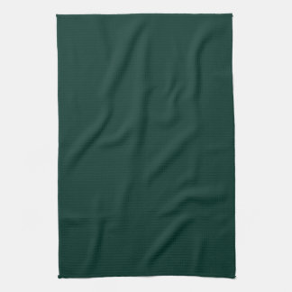 Agave Dark Forest Green Solid Color Background Kitchen Towel