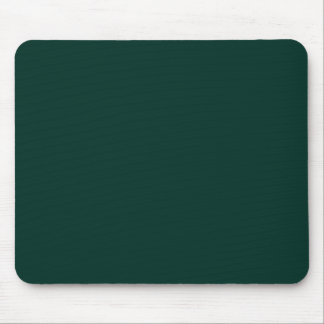 Agave Dark Forest Green Solid Color Background Mouse Pad