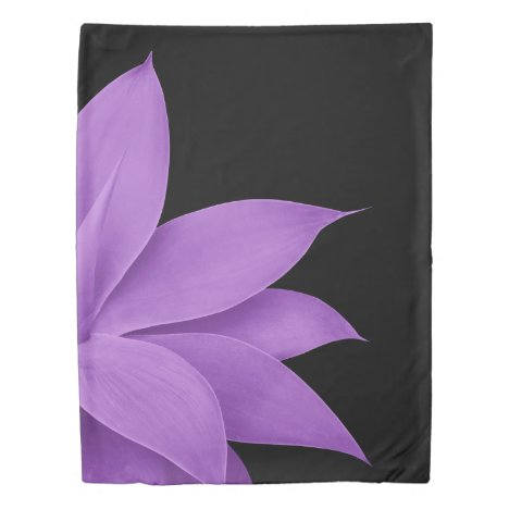 Agave Finesse #10 - Purple on Black Duvet Cover
