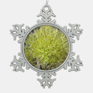 Agave Giant Flower Cluster Snowflake Pewter Christmas Ornament