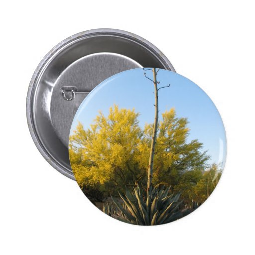 Agave in Bloom 2 Inch Round Button