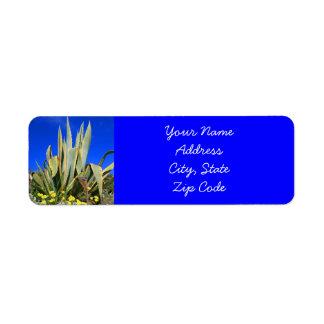 Agave Plant Address labels