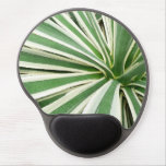 Agave Plant Green and White Stripe Gel Mouse Pad