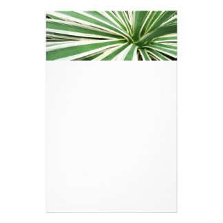 Agave Plant Green and White Stripe Stationery