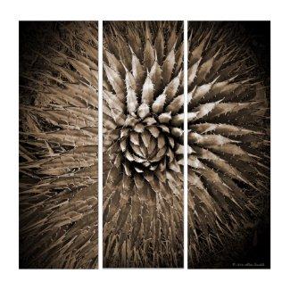 Agave Sepia Brown Tan Modern Southwest Acrylic