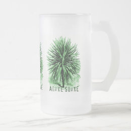 AGAVE SUAVE print Frosted Glass Beer Mug