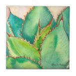 "Agave tile by Debra Lee Baldwin<br><div class=""desc"">A lovely agave on a tile</div>"