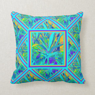 Agave Turquoise Pattern Tropic pillow by Sharles