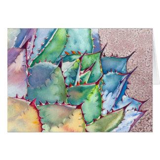 Agave watercolor card by Debra Lee Baldwin