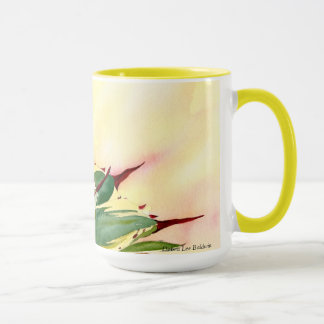 Agave watercolor mug, yellow, by Debra Lee Baldwin Mug