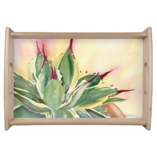 Agave watercolor tray by Debra Lee Baldwin Service Tray