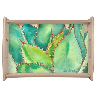 Agave watercolor tray by Debra Lee Baldwin Serving Trays