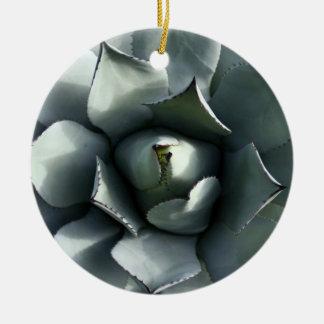agavo adorno navideño redondo de cerámica