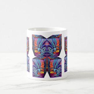 Agavo azul surrealista, diseño de la salida del so tazas