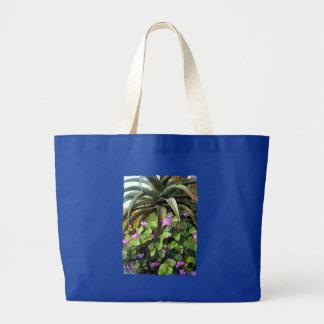 Agavo y violetas africanas bolsas lienzo