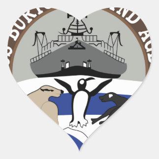 AGB-1 USS Burton Island Wind Class ICEBREAKER Mili Heart Sticker