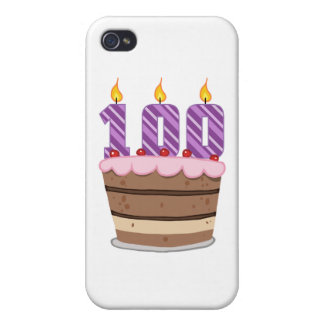 Age 100 on  Birthday Cake iPhone 4 Case