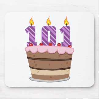 Age 101 on Birthday Cake Mouse Pad