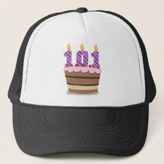 Age 101 on Birthday Cake Trucker Hat