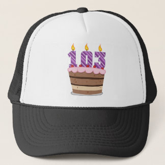 Age 103 on Birthday Cake Trucker Hat