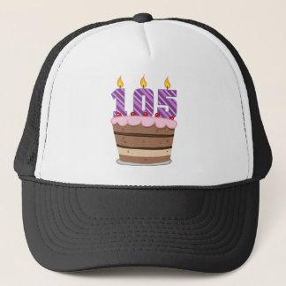 Age 105 on Birthday Cake Trucker Hat