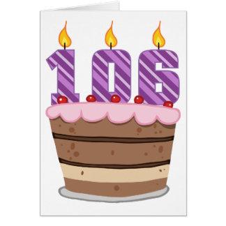 Age 106 on Birthday Cake Card