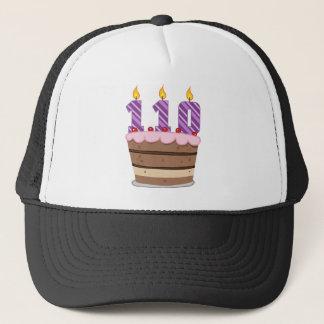 Age 110 on Birthday Cake Trucker Hat