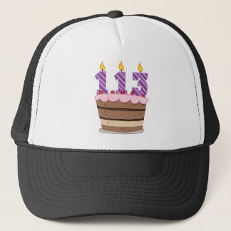 Age 113 on Birthday Cake Trucker Hat