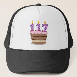 Age 117 on  Birthday Cake Trucker Hat