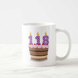 Age 118 on Birthday Cake Coffee Mug
