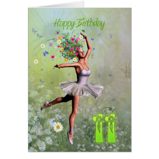 Age 11, flower fairy birthday card