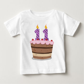 Age 11 on Birthday Cake Baby T-Shirt