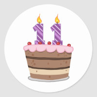 Age 11 on Birthday Cake