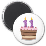 Age 11 on Birthday Cake Refrigerator Magnets
