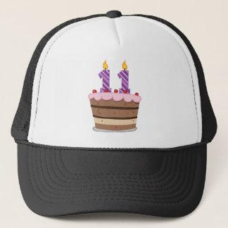 Age 11 on Birthday Cake Trucker Hat