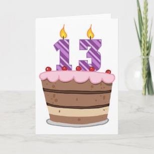Awe Inspiring 13 Year Old Birthday Cake Gifts On Zazzle Birthday Cards Printable Opercafe Filternl