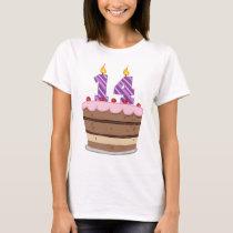 Age 14 on Birthday Cake T-Shirt