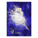 Age 17, leaping ballerina birthday card