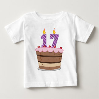 Age 17 on Birthday Cake Baby T-Shirt