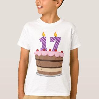 Age 17 on Birthday Cake T-Shirt