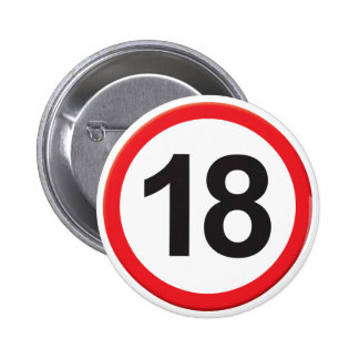 Age 18 2 inch round button