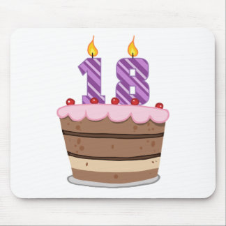 Age 18 on Birthday Cake Mouse Pad