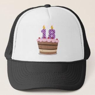 Age 18 on Birthday Cake Trucker Hat
