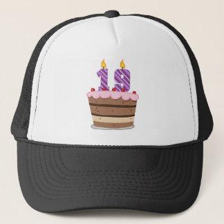 Age 19 on Birthday Cake Trucker Hat
