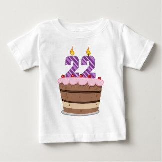 Age 22 on Birthday Cake T Shirts