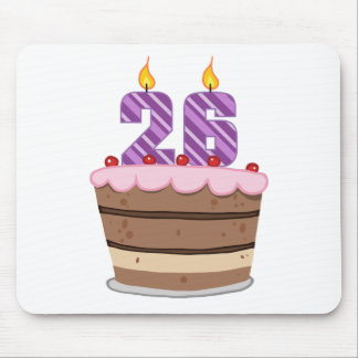 Age 26 on Birthday Cake Mouse Pad