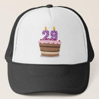 Age 29 on Birthday Cake Trucker Hat