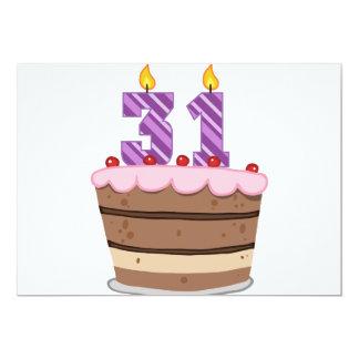 Age 31 on Birthday Cake Card